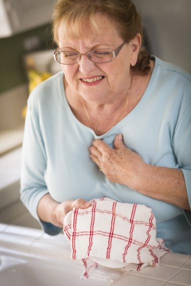 Woman Suffering From Acid Reflux Symptoms